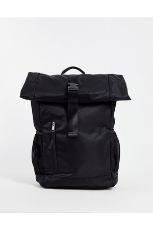 ASOS Backpack with roll top and front pocket in nylon