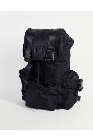 ASOS Backpack with multi compartments in nylon