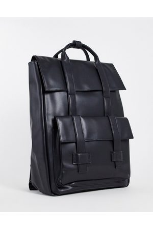 ASOS Backpack with double straps in faux leather