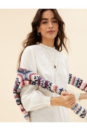 Per Una Women High Necks - Pure Cotton High Neck Long Sleeve Top