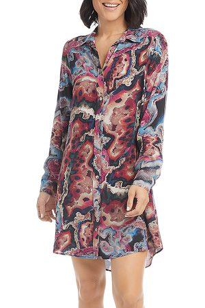 Karen Kane Printed Shirt Dress