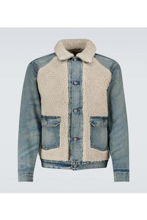 RRL Men Denim Jackets - Denim and shearling jacket
