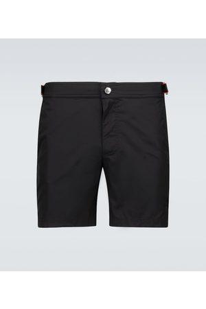 Alexander McQueen Men Swim Shorts - Logo swim shorts