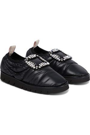 Roger Vivier Women Slippers - Viv' Winter embellished slippers