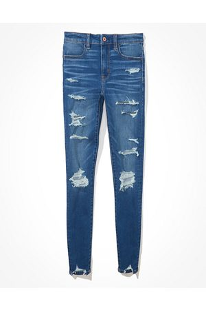 American Eagle Outfitters Next Level Temp Tech Ripped Super High-Waisted Jegging Women's 2 Long