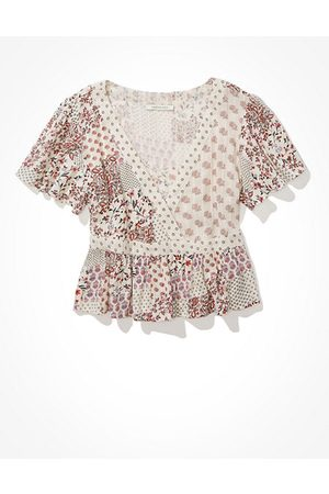 American Eagle Outfitters Wrap-Front Blouse Women's XXS