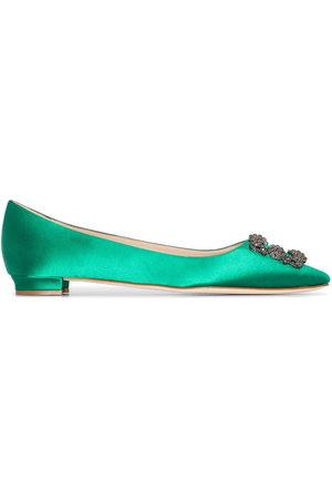 Manolo Blahnik Women Flat Shoes - Hangisi appliqué flat pumps