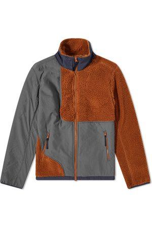 Brain Dead Men Fleece Jackets - Paneled Fleece Jacket