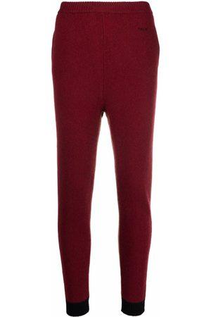 Marni Women Sweatpants - Ribbed-knit cashmere trousers