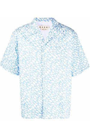 Marni Cloud-print short-sleeve shirt