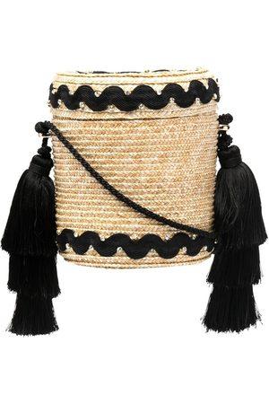Le Nine Women Shoulder Bags - Wave cylindrical shoulder bag - Neutrals