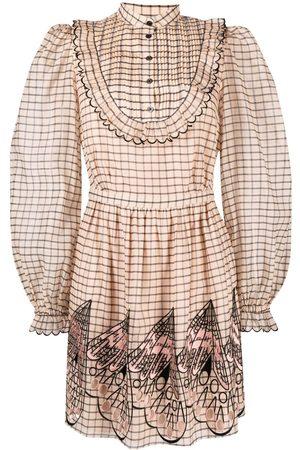 TEMPERLEY LONDON Mockingbird checked shirt dress - Neutrals
