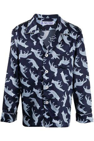 Fred Segal Coyote print pyjama shirt