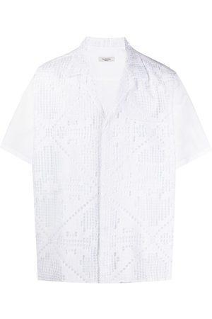 VALENTINO Punch-hole detail short-sleeve shirt