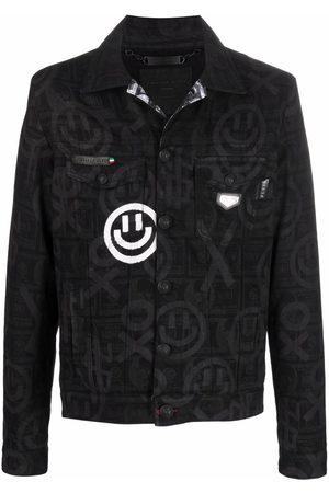 Philipp Plein Dollar printed denim jacket