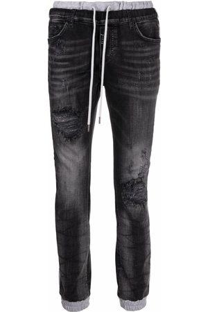 Philipp Plein Side-stripe slim-fit jeans