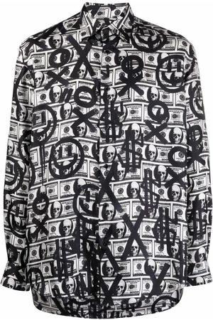 Philipp Plein Dollar Sugar Daddy long-sleeve silk shirt