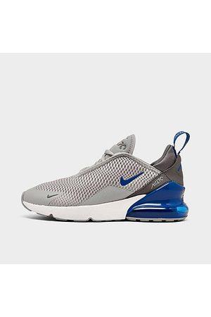Nike Little Kids' Air Max 270 Casual Shoes in Grey/Light Smoke Grey Size 1.0