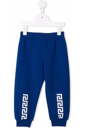VERSACE Sweatpants - Greca-print cotton track pants