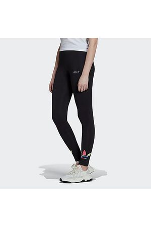 adidas Women Stockings - Women's Originals Adicolor Shattered Trefoil Tights in / Size Small Cotton/Jersey