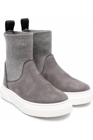 MONTELPARE TRADITION Sock-style ankle boots - Grey