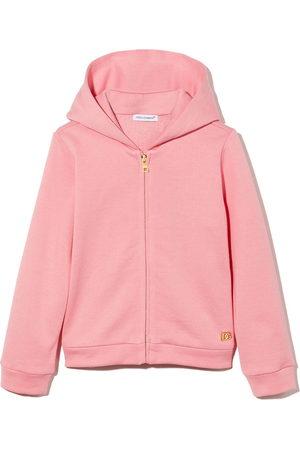 Dolce & Gabbana Logo-plaque zip-up hoodie