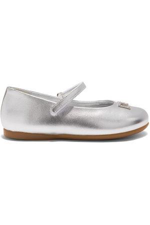 Dolce & Gabbana Girls Ballerinas - DG crystal-embellished ballerina shoes