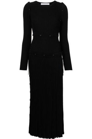 CHRISTOPHER ESBER Button rib-knit dress