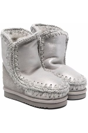 Mou Girls Snow Boots - Shearling lined boots - Grey