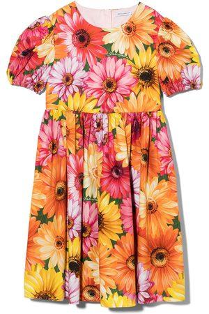 Dolce & Gabbana Floral print short-sleeve dress