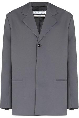 OFF-WHITE Men Blazers - Crease single-breasted blazer - Grey