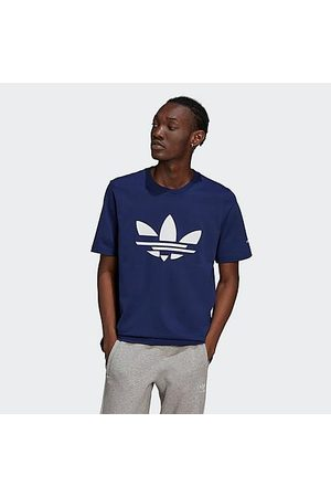 adidas Men T-shirts - Men's Adicolor Shattered Trefoil Graphic T-Shirt in /Night Sky Size Large 100% Cotton