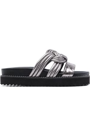 Vicenza Women Sandals - Braided leather sandals