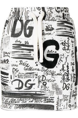 Dolce & Gabbana Women Printed Skirts - Logo-print mini skirt