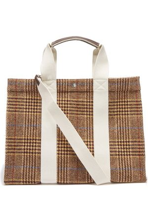 Rue de Verneuil Tote Xl Checked Wool-blend Flannel Tote Bag - Womens - Multi