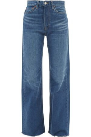RE/DONE 70s Ultra High Rise Wide-leg Jeans - Womens - Mid Denim