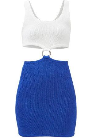 Hunza G Women Casual Dresses - Pretty Woman Cutout Crinkle-jersey Mini Dress - Womens
