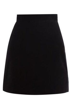 The Vampire's Wife Nearly Nuthin' Cotton-velvet Mini Skirt - Womens