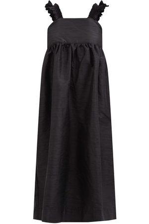 Cawley Studio Iris Hand-smocked Silk Midi Dress - Womens