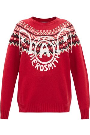 JUNYA WATANABE Women Sweaters - Aerosmith-print Fair Isle-intarsia Wool Sweater - Womens - Multi