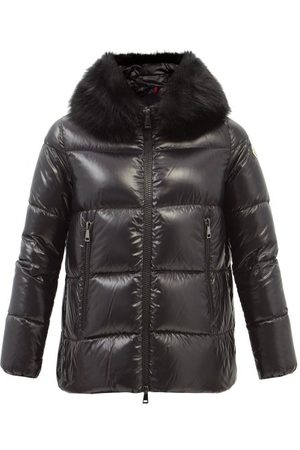 Moncler Laiche Faux-fur Hooded Quilted Down Coat - Womens
