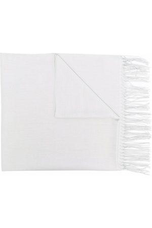 Emporio Armani Men Scarves - Longline fringed scarf - Grey
