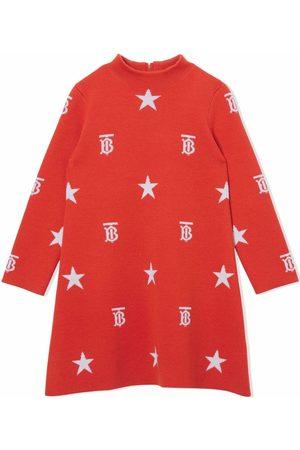 Burberry Monogram-pattern long-sleeve dress