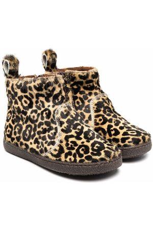 PèPè Leopard-print slip-on boots - Neutrals