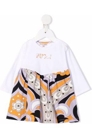Emilio Pucci Baby Printed Dresses - Graphic-print empire-line dress
