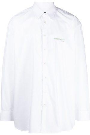 RAF SIMONS Logo-embroidered long-sleeve shirt