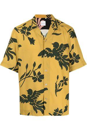 PAUL SMITH Botanical-print short-sleeved shirt