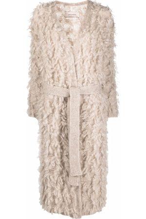 GENTRYPORTOFINO Textured cardi-coat - Neutrals