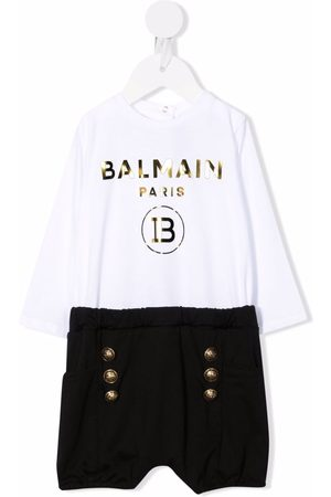 Balmain Logo-print long-sleeved romper