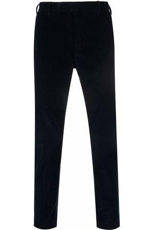 PT01 Slim-fit velvet trousers